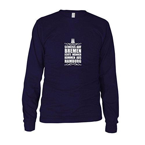 Scheiss auf Bremen - Herren Langarm T-Shirt, Größe: XXL, dunkelblau