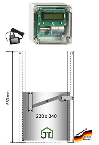 JOSTechnik automatische Hühnerklappe JT-HK + Zeitschaltuhr und Hühnerklappe mit Selbstverriegelung 230x340mm