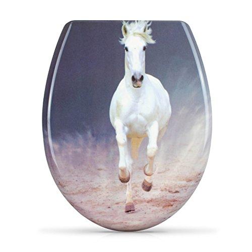 VENKON-Premium-WC-Sitz-mit-Absenkautomatik-Modell-White-Horse-Toilettendeckel-aus-Duroplast-antibakteriell-inkl-Montagesatz