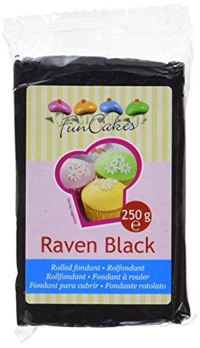 FunCakes Fondant, schwarz, 1er Pack (1 x 250 g) Palm T 5 Fall