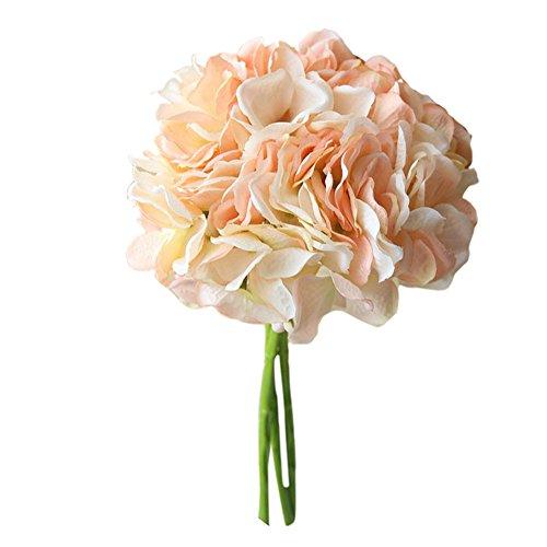 Seide Gefälschte Blumen Pfingstrose Hochzeit Bouquet Bridal Hydrangea Decor Blume Vintage Seidenblume Für Home Küche Herzstück Dekor(B) ()