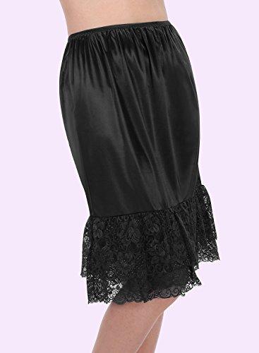 Timormode Unterrock Rock im Kleid Petticoat BrautjungfernKleid Röckchen Schwarz-B