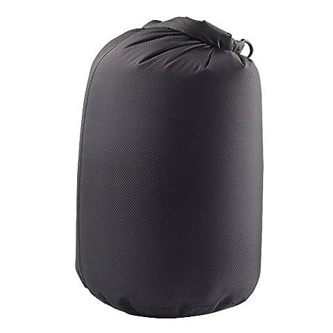 Sac de Compression Rangement Etanche Anti-poussière pour Camping Pêche - Noir, 25L