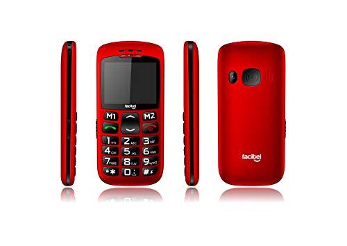 Facitel FS07 - Teléfono móvil DE 2.2', Color Rojo