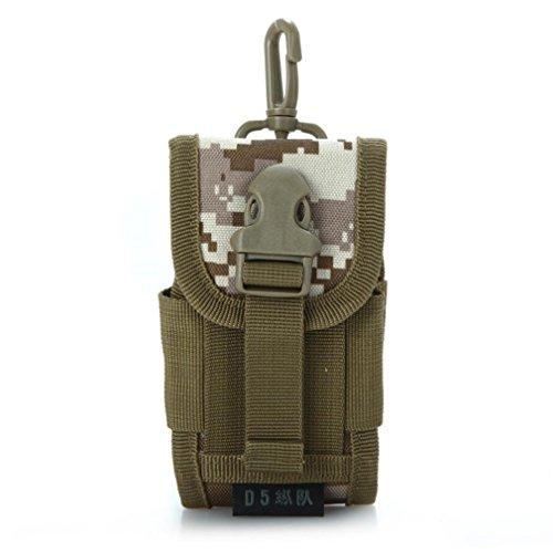 F@Tasche laterali tattico marsupio ideale militare di MOLLE borsa per apparecchiatura pratica funzionalità multimediali di sport all'aria aperta con moschettone in alluminio Extrafreiem , black desert
