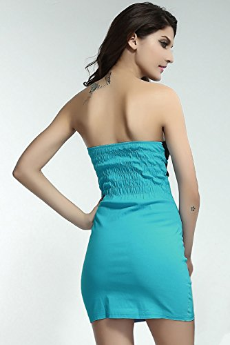 Dissa® femme Bleu SY2909-4L mini robe Bleu