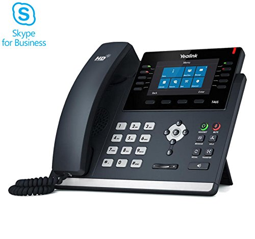 Yealink SIP-T46S IP Telefon Skype for Business (ohne Netzteil) Business-telefone