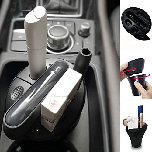 BECROWM EU Cup Charger für iqos, elektronische Zigarette iqos 3.0 & Multi 3.0 Ladegerät und Netzteil für Pocket Charger mit Aschenbecher, Auto Becherhalter schwarz