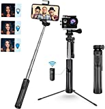 Mpow Bastone Selfie, all in 1 LED & 360 ° Estensibile Selfie Stick Treppiede con Bluetooth e Luce di Riempimento, Compatibile per iPhone 11/XS Max/XR/X/ 8/7, Galaxy S10/ S9/S8, Gopro/Fotocamera