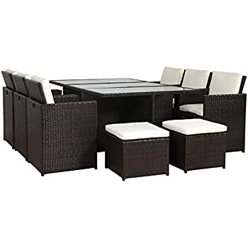 polyrattan gartenm bel 27 tlg rattan gartenset essgruppe lounge sitzgruppe sofa. Black Bedroom Furniture Sets. Home Design Ideas