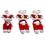 Newin Star Traje 6 PCS de Navidad Mini Santa Claus para los titulares de Cuchillo y Tenedor Vajilla Decoración Cubierta de Almacenamiento Adornos de Navidad Cubiertos Cubiertos