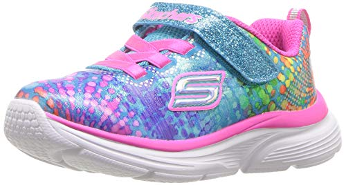 Skechers Mädchen Wavy Lites Sneaker, Mehrfarbig (Multicoloured Mlt), 22 EU (Sneaker Mädchen Boot)