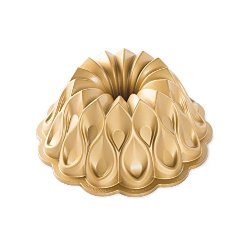 Nordic Ware - Backform, Kuchenform - Jubiläums-Krone, Krone - Aluguss - Gold