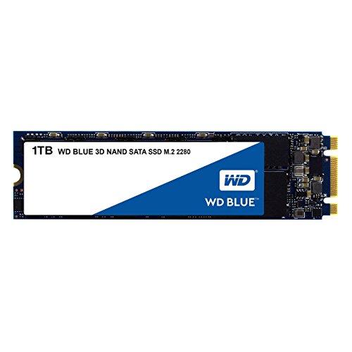 WD Blue 3D NAND 1 TB SATA SSD, interne M.2 2280 Festplatte bis zu 560 MB/s Lese- und 530 MB/s seq. Schreibgeschwindigkeit