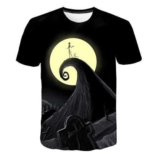 rt Jack Skelington Männer T-Shirt Stilvolle Spaß 3D Top Party Style Lässige T-Shirt Urlaub Geschenk T-Shirt ()