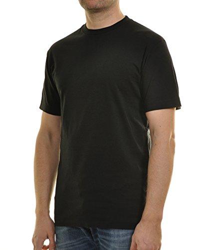 RAGMAN Herren T-Shirt Singlepack Schwarz-009