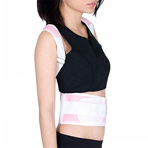 dynry (TM) spedizione gratuita nuovo terapia magnetica Postura Correttore postura schiena e spalle supporto per cintura, colore: nero, Pink,
