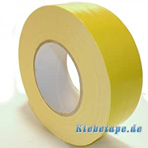 klebeband gelb 50mm x 50m gaffa tape gewebeklebeband premium baumarkt. Black Bedroom Furniture Sets. Home Design Ideas
