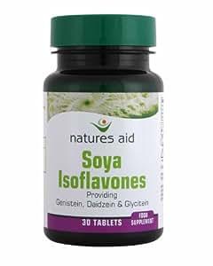 Natures Aid Soya Isoflavones -50mg Non-GM (Genistein,Daidzein&Glycitein) 30 Tabs - PACK OF 2