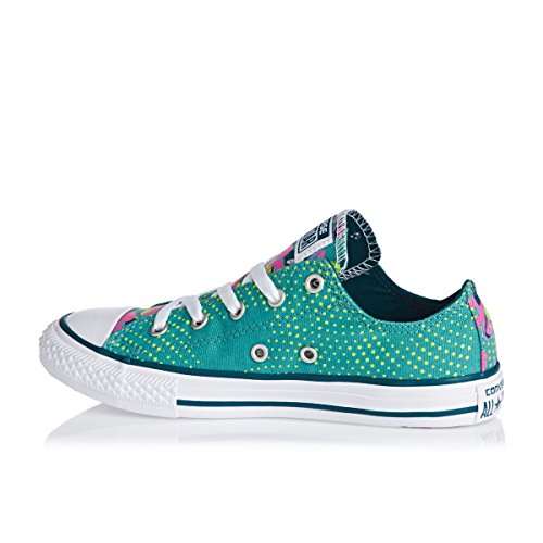 Converse Chuck Taylor All Star Junior Seasonal Ox 15762 Unisex - Kinder Sneaker Aegean Aqua