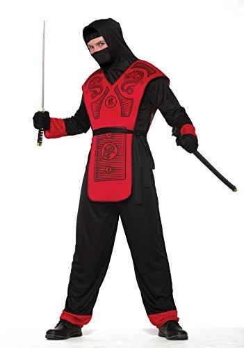 Fire Dragon Ninja Costume Adult Men Standard