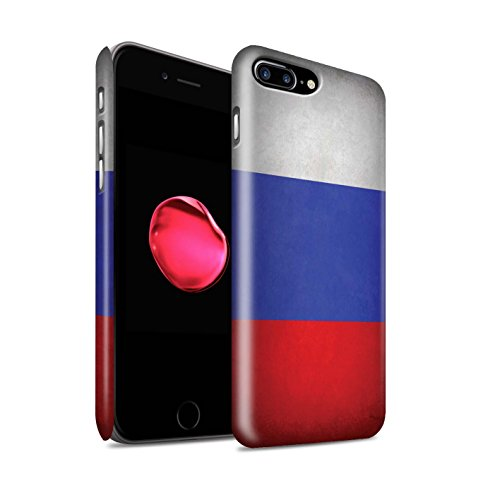 STUFF4 Matte Snap-On Hülle / Case für Apple iPhone X/10 / Australien/australisch Muster / Flagge Kollektion Russland/Russische