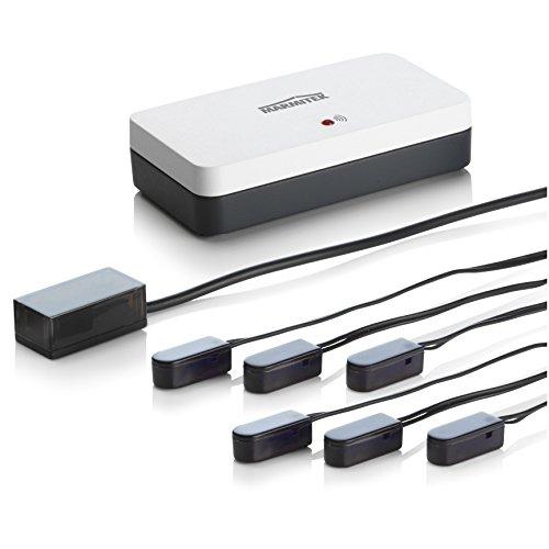 Marmitek Invisible Control 6 - Infrarotverlängerung - Emitter (Klebe) LEDs - 6 Geräte - extra kleiner Empfänger - Bedienen von Geräte in einem geschlossenen Schrank Remote Control Extender