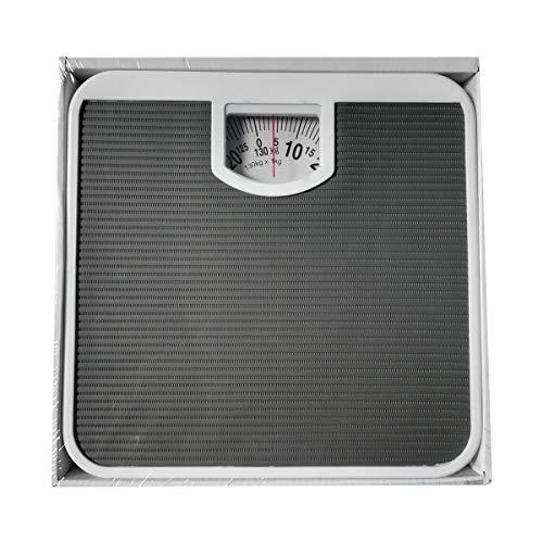 Cisne 2013, S.L. Bascula de baño mecanica Corporal Antideslizante. Tamaño 26,5x26,5x5cm. Color Negro
