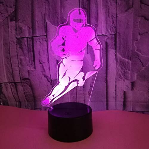 Nachtlicht Tischleuchte Schreibtischlampe 3D-Sicht Schlafzimmer Teenager-Nachtlicht Booter Tabelle Weihnachten Lampe Geschenk Geburtstag Dekoration Fernbedienung USB Power