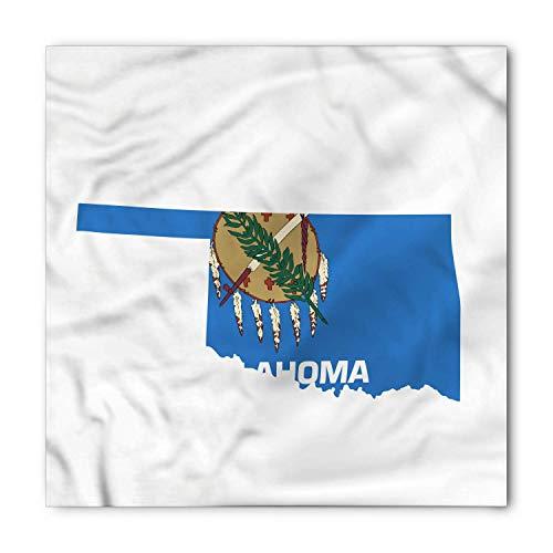 BBABYY Oklahoma Bandana, Sooner State Flag as Map, Unisex Head and Neck Tie M100*100CM -