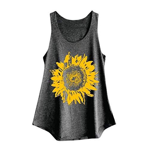 Epig Sunflower Print Tank Tops für Frauen Sommer beiläufige komfortable lose Weste -