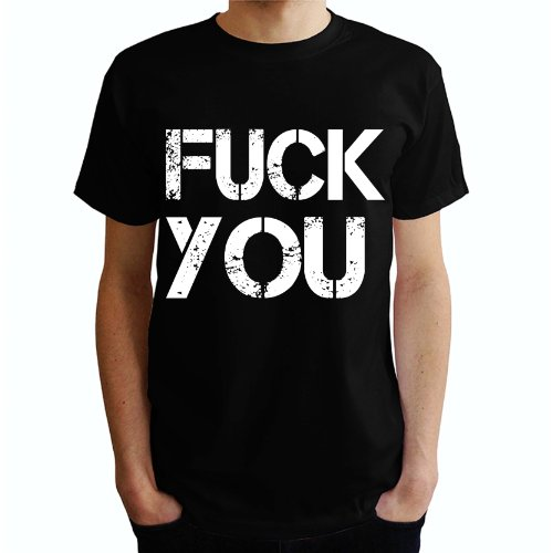 Fuck you Herren T-Shirt Schwarz