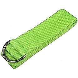 Libertad Deck ajustable para Yoga Stretch Correa D-Ring Cinturón de entrenamiento Cintura Pierna fitness Herramientas Calm Verde