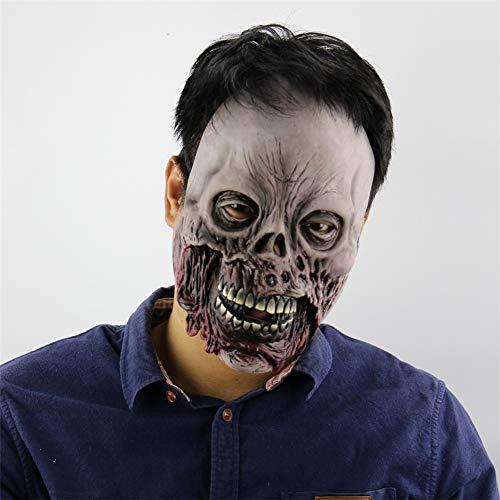 Fun Holi-day Supplies Halloween Maske Schädel Kopfbedeckung Verrottendes Gesicht Terror Grusel Spukhaus Cosplay Unfug Maskerade