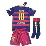 Barcelona Messi # 10Fußball Trikot Set (Trikot + Hose + Socken) Kinder/Jugendliche 11–13Jahren