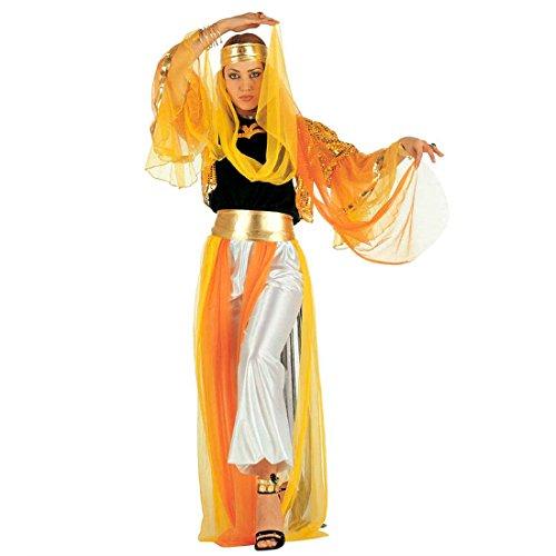 Orient Kostüm Harem Bauchtanzkostüm L 42/44 Haremsdame Damenkostüm Bauchtanz Fasching Arabische Prinzessin Faschingskostüm Bauchtänzerin Karnevalskostüm Damen 1001 Nacht Mottoparty (Weiß Und Gold Bauchtanz Kostüm)