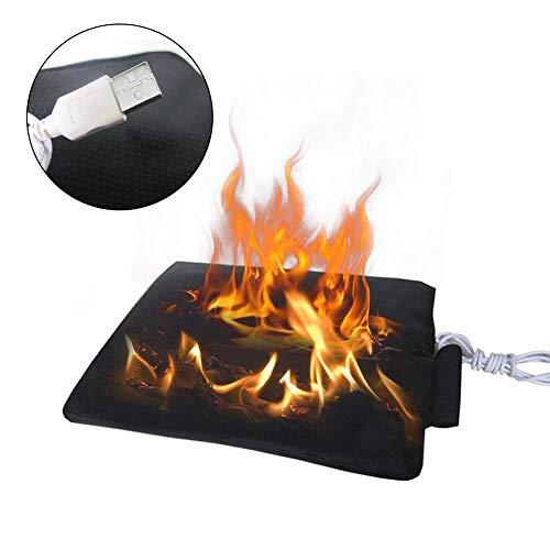 Sunflowerany USB 5V Heizkissen Angeln Pad Kohlefaser Fernen Infrarot Heizung Sitzkissen zur Entlastung des Rückens, geeignet für Bürostühle, Küchenstühle, Couches, Autositze