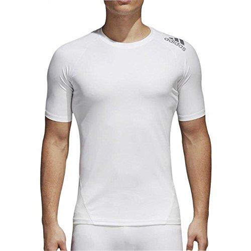 adidas Herren Alphaskin Sport Kurzarm T-Shirt, White, L -