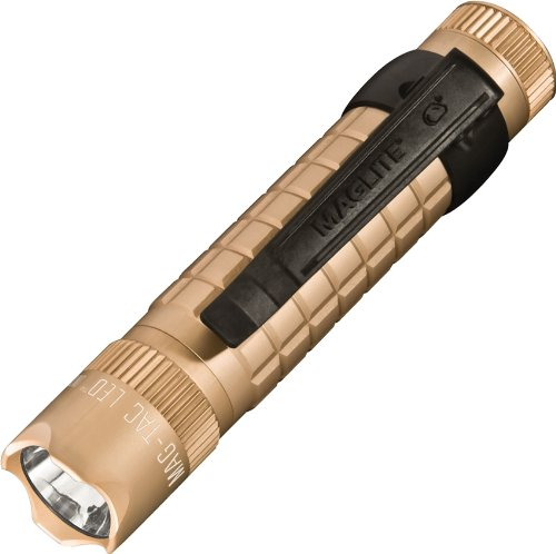 Mag-Lite Mag-Tac LED-Taschenlampe im Tactical-Design, Crowned Bezel, 320 Lumen, 13.4 cm mit 3 Modi, sand SG2LRD6