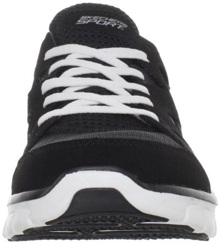 Skechers SynergyGridiron 51197, Baskets mode homme Noir-TR-SW715