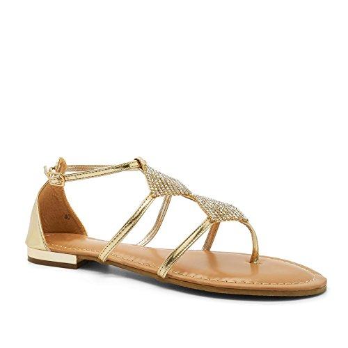 London Footwear - Gladiatore donna Nero (nero)
