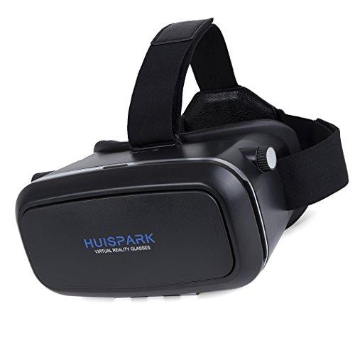 3D VR Headset, huispark Virtual Reality Brille für iPhone 6S/6PLUS/6/5S/5C/5, für Samsung...