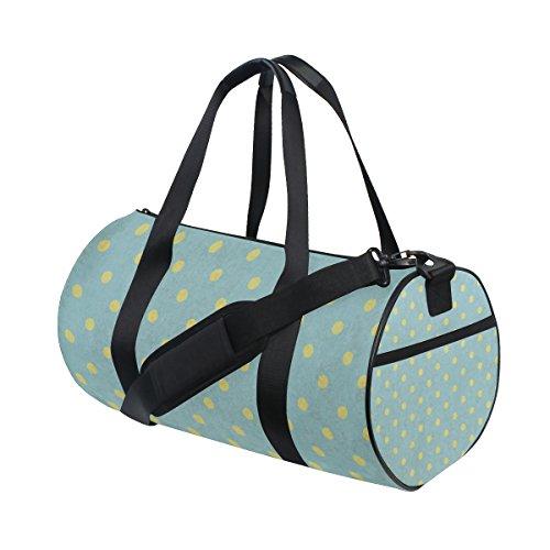 jstel Cool Vintage diseño de lunares bolsa de deporte gimnasio para hombres y mujeres bolsa de viaje de viaje
