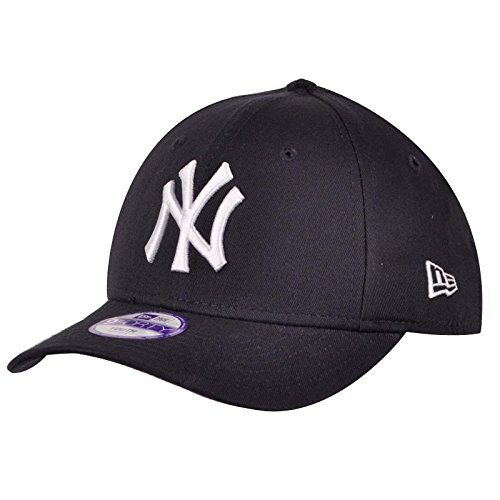 New York NY Yankees MLB League Basic 9Forty Casquette Ajustée Fit Noir / Blanc Enfants, 2-5 Ans
