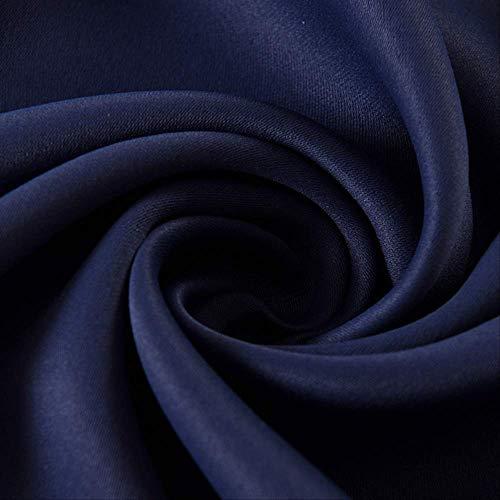 Muysmyr Polyester Fiber Blackout Vorhänge für Wohnzimmer Marine blau Vorhänge für Schlafzimmer Fenster Vorhänge w150cm x h260cm Marineblau (Marine-blau Für Schlafzimmer Vorhänge)