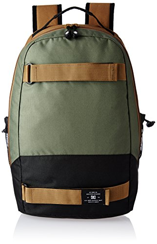 DC Shoes Rucksack Grind Backpack mit Board-Halter oliv braun - 23 L, 46 cm x 28 cm x 18 cm -