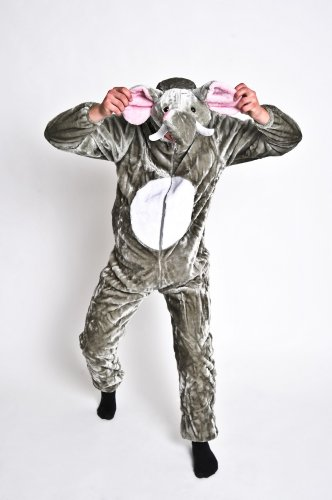 foxxeo 13030| Deluxe Elefantes Disfraz de peluche