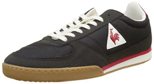 Le COQ Sportif Volley Retro Gum, Entrenadores Bajos para Hombre, Negro (Black/Vintage Red), 40 EU