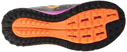 Nike Air Zoom Wildhorse 3 Damen Laufschuhe Grau (Tumbled Grey/Bright Citrus/Fuchsia Flsh)