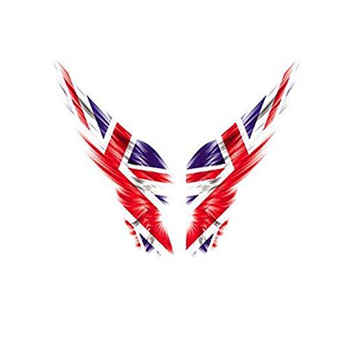 Newin Star 2 Fogli autoadesivi creativi dell'automobile della Bandiera della Bandiera Nazionale Creativa autoadesivi Riflettenti autoadesivi Personali Regno Unito